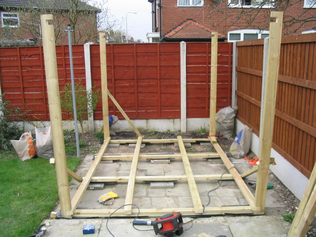 Building a shed for Designing a large garden from scratch