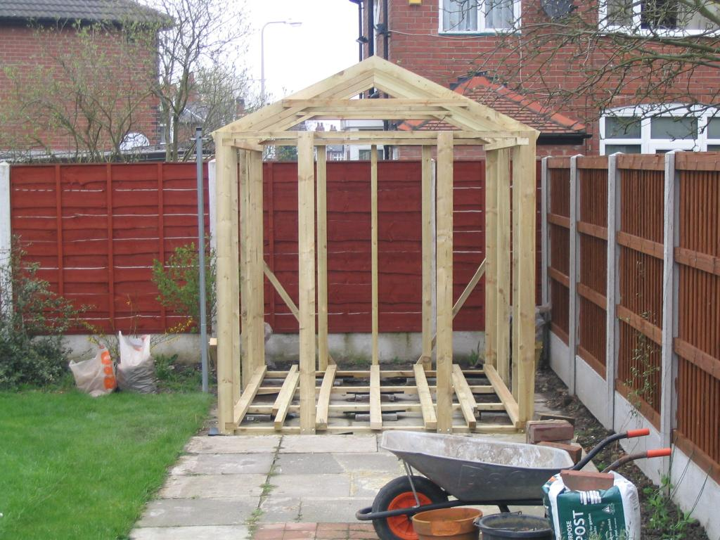 Shed Roof So i built the roof joists