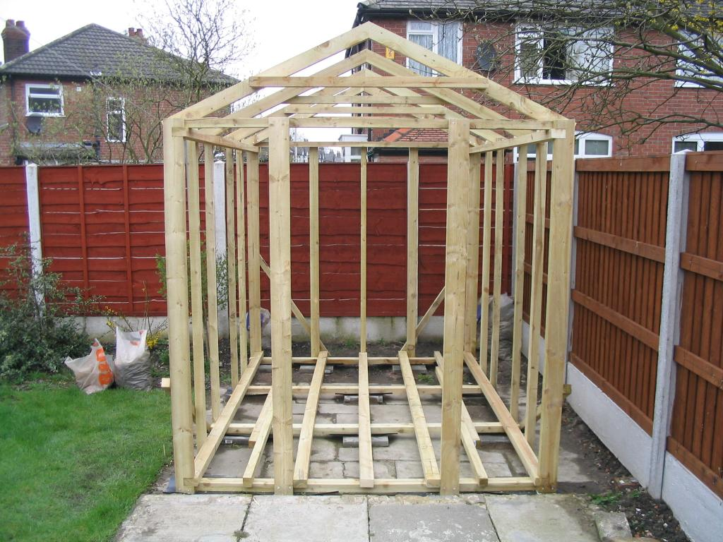 Framing a work shed kits