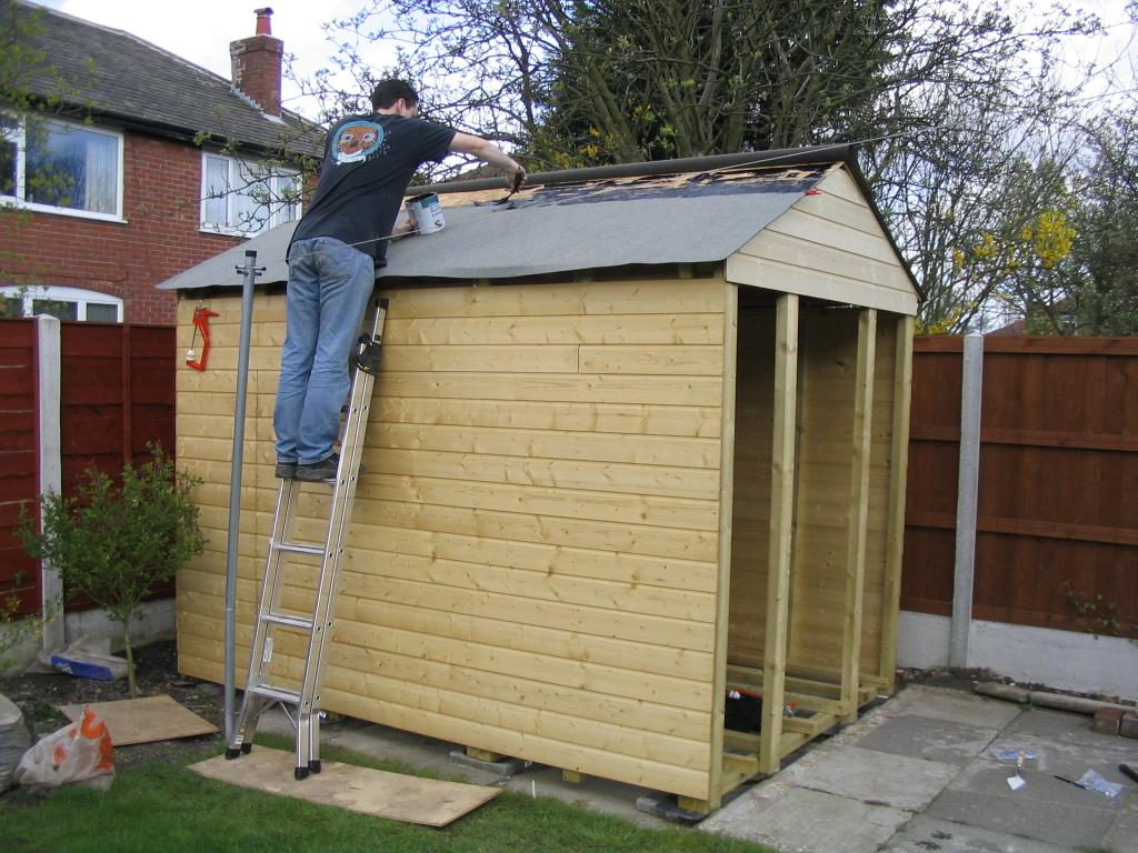 Roof shed workshop skillion garage 1 for Garden construction